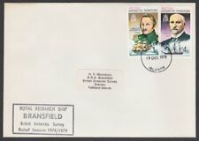 BR ANTARCTIC TERRITORY 1978 cover Royal Research Ship BRANSFIELD cachet.....T212