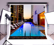 Swimming pool Vinyl Photography Backdrop Background Studio Photo Props 10x10ft