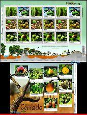 16-18-5 BRAZIL 2016 FRUITS OF CERRADO, PLANTS, SHEET AND MINI SHEET MNH