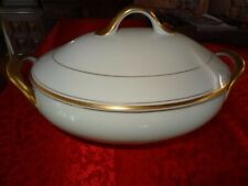 Fitz and Floyd Palais Buff large oval covered Soup Tureen w lid fitz & floyd