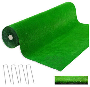 Hierba Sintético h7MM Rollos 2 x 5 MT 4 Estacas Incluidos Capa Prado Verde Mock