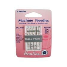 Hemline Knit Fabric/jersey Sewing Machine Ball Point Assorted Mixed Needles X 5