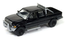 1/64 JOHNNY LIGHTNING 1996 Dodge Ram 1500 in Gloss Black w/ tow hitch