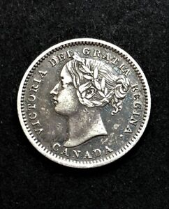 Canada/ 10 Cents 1901/ KM-3/ Excellent Condition/ SILVER COIN