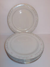 6 x Crown Ming Jian Shiang Fine China Dinner Plates Coquille 26.5cm Lovely
