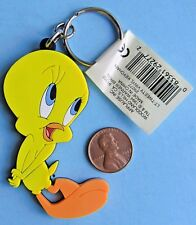TWEETY BIRD KEYCHAIN '97 vtg Warner Brothers LOONEY TUNES Rubber Applause