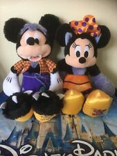 """More details for disney store mickey mouse and minnie mouse 13"""" halloween soft plushes 2019 new!."""
