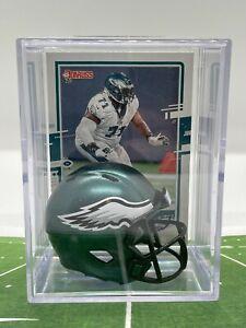 Philadelphia Eagles Jason Peters mini Helmet Shadowbox w/ Card