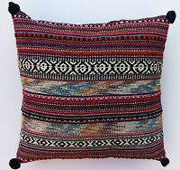 Indian Handmade Home Decor Hand Woven Floor Pillow Bohemian Cushion Cover 16x16""