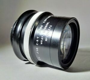 ULTRA FAST Wray 50mm 2in f/1.0 CRT Lens Copying 4:1 - 50mm Screw Mount