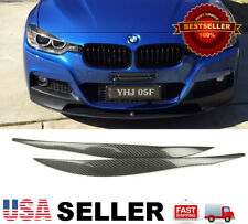 (REAL) Carbon Fiber Headlight Eyelids Eyebrows For BMW 12-18 BMW F30 3-SERIES
