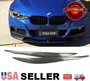 (REAL) Carbon Fiber Headlight Eyelids Eyebrows For BMW 12-18 BMW F30 3-SERIES