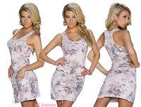 vestito donna mini abito corto fantasia floreale retrò,misto cotone,tg u