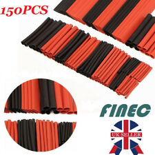150Pcs Red&Black Heat Shrink Tubing Tube Cable Ratio 2:1 Sleeving Wire Wrap Kit