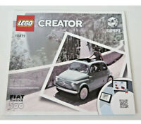 Lego Creator Fiat Nuova 500 Expert Instruction Manual Only 10271