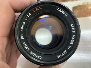 """Rare """"O"""" Lens [Exc CANON FD 50mm f/1.4 S.S.C. SSC MF lens from JAPAN #472"""