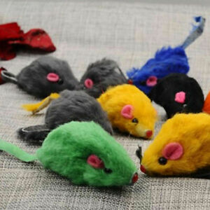 Fur False Mouse Pet Kitten Cat Toy Mini Funny Playing Toys 5CM D2Y6