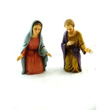Coppia Madonna - San Giuseppe Landi Moranduzzo Cm 12 - Sacra Famiglia Presepe