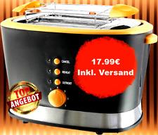 Emerio 2 Scheiben Toaster in schwarz mit Aufwärmfunktion und Auftautaste