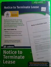 Real estate, Notice to terminate lease