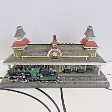 Danbury Mint The N Conway Railroad Station 3 Piece Set Hand Painted 1993