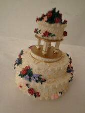 Enesco MADE FROM SCRATCH Wedding CAKE i do 797464 NEW in Box