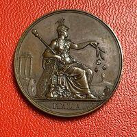 #5459 - Médaille L'Italie publiée en 1836 Protecteur des Arts Audot - FACTURE