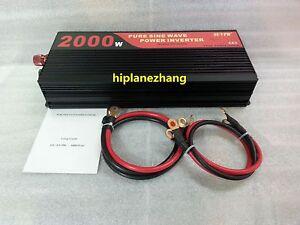 Pure Sine Wave 2000W Power Inverter Converter DC 48V to AC 110V or 220V