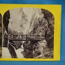 1860s Suisse Stereoview 58 Gorge Du Trient Martigny Alpine Club William England