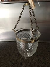 Nwt Hanging Crystal and Brass Hurricane. Retail $112.00 *Gift*