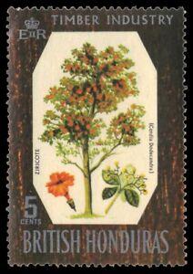 """BRITISH HONDURAS 230 (SG272) - Ziricote Tree """"Cordia dodecandra"""" (pa88066)"""
