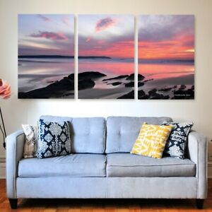 Woolacombe Glow Tryptich Canvas