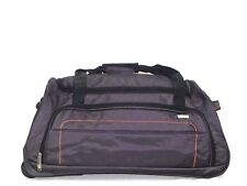 Large Holdall Duffel Travel Bag With Rolling Wheels Dark Grey
