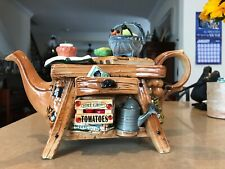 Paul Cardew Teapot Gardeners Bench Limited Edition signed