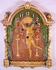 Vintage 1930's Lux Animated Fan Dancer Pendulette Clock Face Depicts Sally Rand