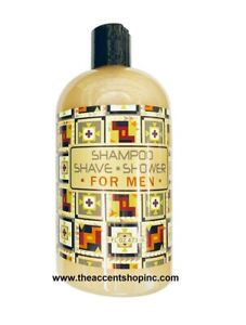 Greenwich Bay Trading Company Shampoo/Shave/Shower for Men, 16oz (R2T028)