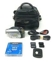 Sony HandyCam Video Camera, DCR-DVD92 NTSC, Bundle, w/Case, NO AC ADAPTER