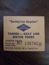 Vintage Tanner Gray Line Motor Tours Bus Ticket Stub Biltmore and Rosslyn Hotels