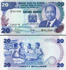 Kenya 20 Shillings,1 Jan 1981, Unc, P-21a, Prefix D 8