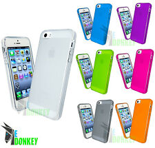 CUSTODIA CASE COVER EDONKEY PER APPLE IPHONE 5 5S TPU GEL TRASPARENTE FLESSIBILE