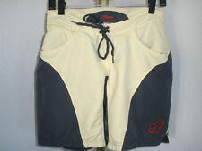 Women's Fox Padded Cycling Shorts Dark Gray & Pale Yellow Sz Small *Nice!