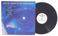 "MISS LIE Errors In The Human Brain LP BEAT BOX RECORDS BB006 Belgium 1990 12"" NM"