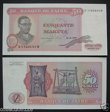 Zaire Paper Money 50 Zaires 1979 UNC