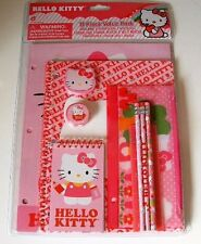 Hello Kitty Pink 11 piece Stationary Pack - BRAND NEW For Girls
