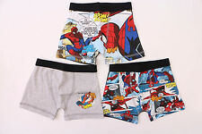 Marvel Comics The Ultimate Spider-Man Multi-Color Baby Underwear 3 Boys Trunks
