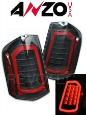 Black Sequential LED Tail Lights Anzo 321343 For 11-14 Chrysler 300