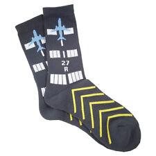 Aviation-Themed Premium Crew Socks - RUNWAY Design by Luso Aviation, 1-Pair