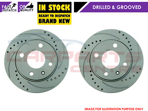 FOR MINI COOPER S R56 R57 REAR DRILLED & GROOVED PERFORMANCE BRAKE DISCS 259mm