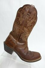 ARIAT Square-Toe Brown Sz 6.5 B Women Leather Cowboy Boots