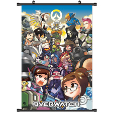 Hot Shoot Game Overwatch D.VA Mercy Wall Scroll Poster cosplay 3285